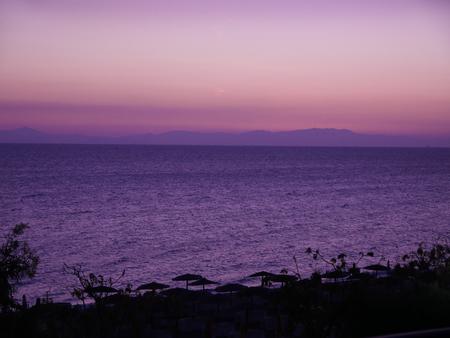 Sunset over Ellie Beach on the island of Rhodes Greece