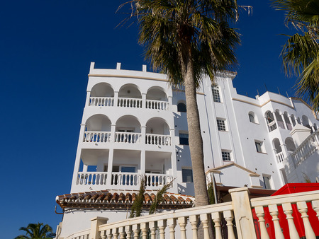 Hotel or Apartment Block by the River Chillar in Nerja Andalucia
