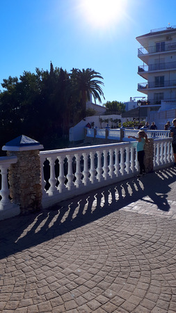Mirador or viewpoint over the Mediterranean Sea in Nerja on the Costa Del Sol