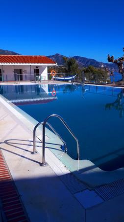 beautiful swimming pool overlooking the Burriana beach in Nerja