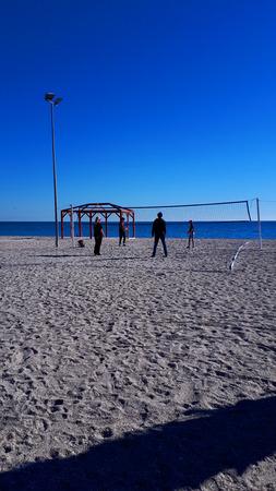 The Burriana Beach in Nerja on the Costa del Sol Spain