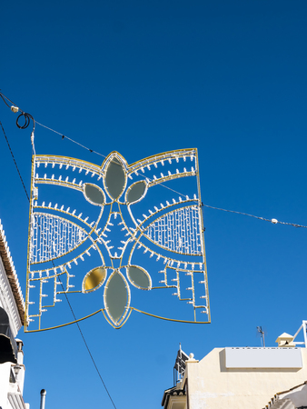 Christmas Decorations in Nerja on the Costa del Sol in Spain
