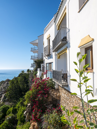 House with view over the sea in Nerja on the Costa del Sol in Spain