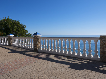 Mirador or viewpoint over the sea in the resort of Nerja on the Costa del Sol Stock Photo