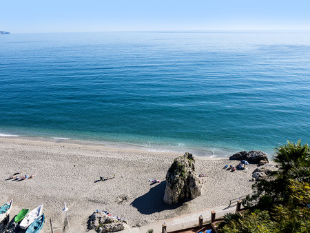 One of the 7 beaches in Nerja a lovely resort in Souhern Spain