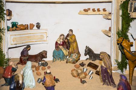 Christmas Crib in Nerja Church on the Costa del Sol Spain Stock Photo