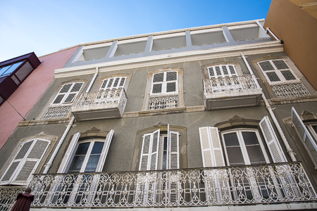 Typical architecture on the Rock of Gibraltar blends Spanish and British style together