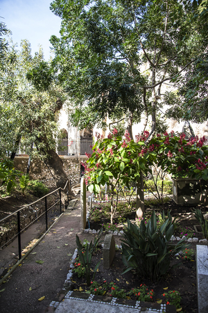 The Trafalgar Cemetery on the Rock of Gibraltar where the dead from the Battle  of Trafalgar are buried