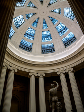 Cupola and statue  on display in museum Editorial