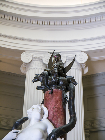 marble and bronze sculpture in an English Museum