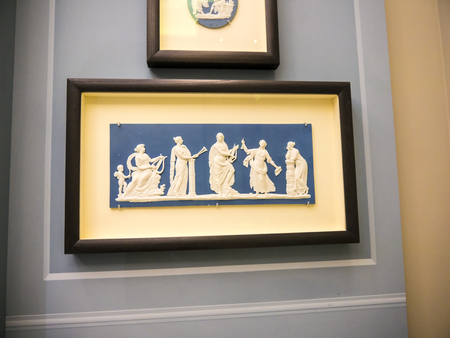 Panel with Greek figures in a English museum