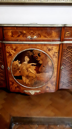 Commode with Marquetry panel in display