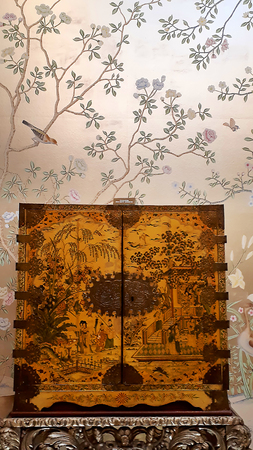 Chinese cabinet on display in furniture exhibition