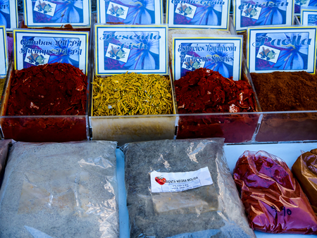Spices and Nuts for sale on the Market in Furengirola Spain