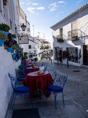 Street Cafe in Mijas in southern Spain