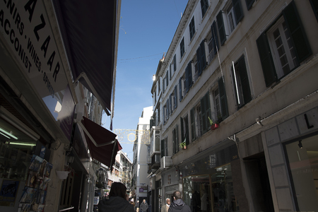 Main Shopping Street on the Rock of Gibraltar Editorial