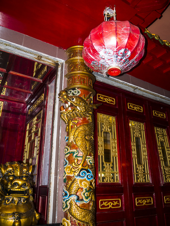 Entrance to a Chinese Restaurant in Los Boliches in Fuengirola Spain Editorial