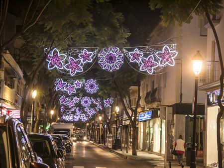 Christmas Lights in Fuengirola Spain Stock Photo - 120450821