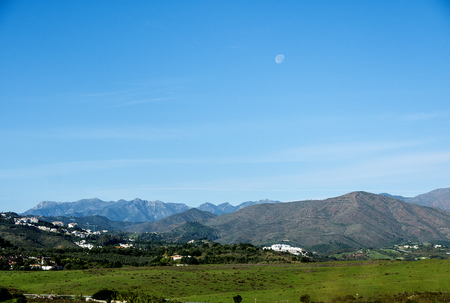 Mountains behind the Costa del Sol in Southern Spain Stock Photo