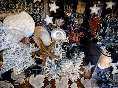Festive Display of objects at Christmas in Fuengirola Spain Stock Photo