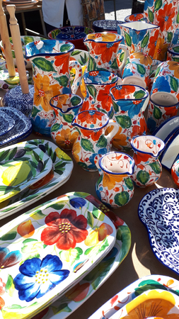Pottery on the Market in Fuengirola Spain
