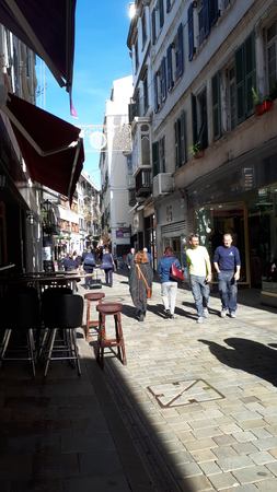 The Main shopping street on the Rock of Gibraltar Editorial