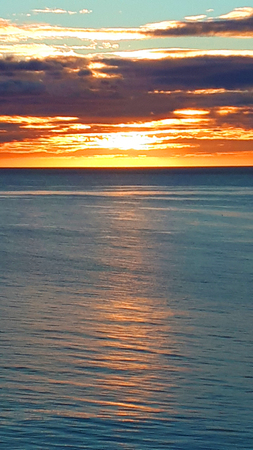 Sunset over the sea on the Costa del Sol in Southern Spain