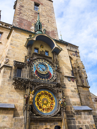 The Prague Astronomical Clock. Prague is a medieval astronomical clock located in Prague, the capital of the Czech Republic.