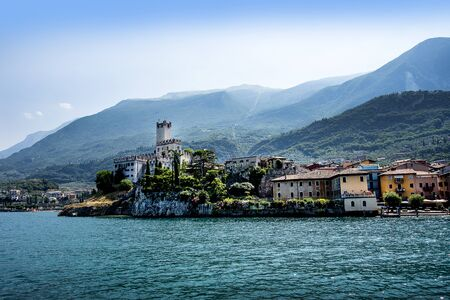 Malcesine is one of the lovely towns on Lake Garda in Northern Italy Stock Photo