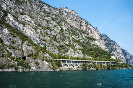 Lake Garda is a popular European tourist destination.. It lies in the province of Brescia, in the region of Lombardy