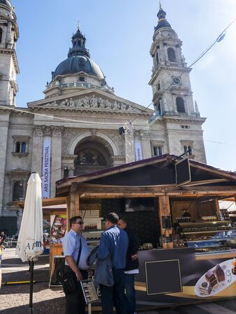 The chocolate festival on the square outside the basilica of St Stephan in Budapest tempted the eye as well as the palate
