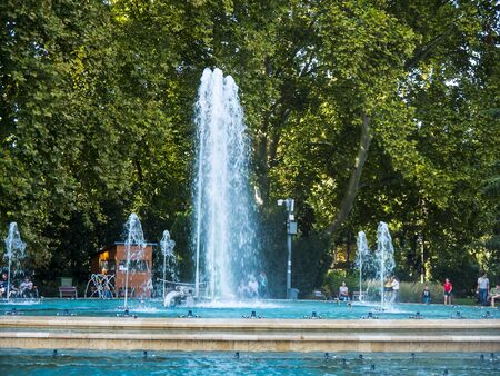 The Park on Margaret Island in the River Danube in Budapest is a quiet oasis in the busy city of Budapest in Hungary with its musical fountains