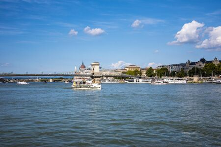 The mighty River Danube as it flows through the city of Budapest on its way from Vienna down to the Black Sea