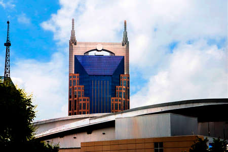The Batman and C3PO buildings in Nashville Tennessee USA It is named this because of the iconic shape on the skyline of the city