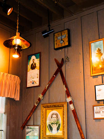 Homespun items decorating a cafe in the South east corner of the USA Editorial