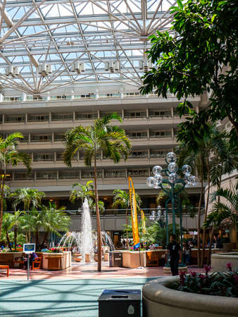 Orlando Airport in Florida is like no other airport with hotels ,fountains and gardens