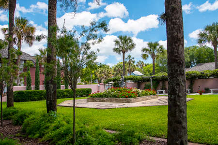 Lovely small quiet park area in St Augustine Florida Editorial