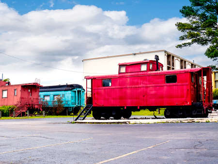 The Historic Casey Jones Home & Railroad Museum in Jackson, Tennessee. Casey Jones was a railroader whose dramatic death while trying to stop his train and save lives made him a legend Editorial