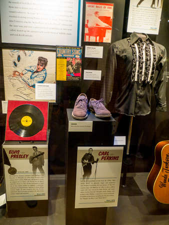 Display in the Country Music Hall of Fame in Nashville TennesseeNashville Tennessee is the home of Country Music renowned throughout the World. Editorial