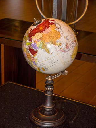 the world at a glance in a hotel lobby in Nashville Tennessee
