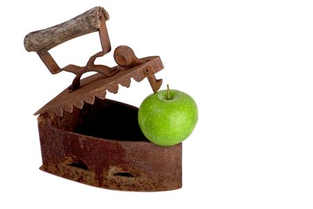 green apple and iron