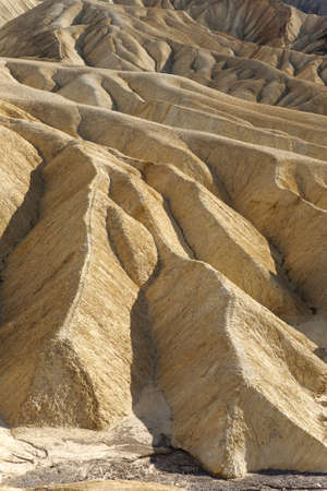 badlands geological formations in Death Valley, California