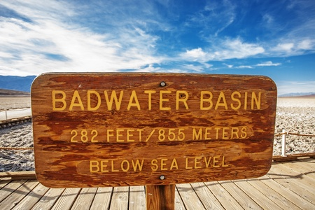 Badwater Basin the only location situated below sea level in North America Stock Photo - 17597369