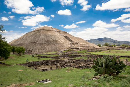 the pyramid of the sun, the worlds third largest pyramid, in Teotihuacan, Mexico