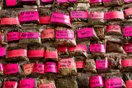 naturopath: Mexican naturopath herbs sold at street vendors