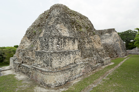 civilisation: pyramid ruins at the Becan archaeological site, Campeche,,Mexico