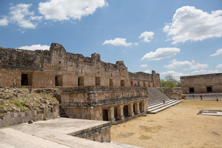 civilisation: the nunnery ruin in the archaeological site of Uxmal,Yucatan