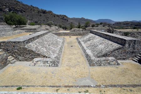 ballgame: ancient Zapotec ballgame court in Yagul,OAxaca,Mexico