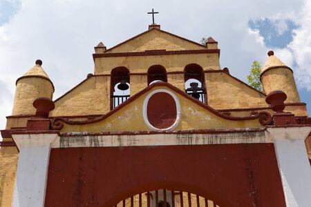 San Cristobal de la Casas, Mexico, typical small church architectural detail