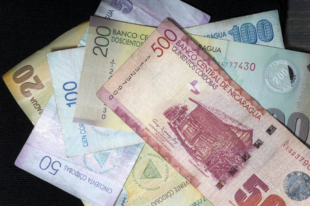cordoba bills the official currency of Nicaragua Banco de Imagens